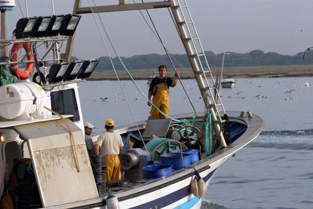 Barcos pesqueros en Huelva