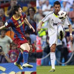 Montaje de Messi t¡y Cristiano Ronaldo