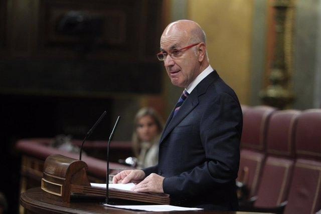 portavoz de CiU, Josep Antoni Duran i Lleida, en el Congreso
