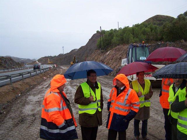 Las obras de remodelación de los accesos a la vía de alta capacidad Lorca-Águila