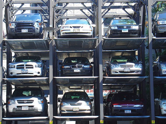 Coches aparcados.