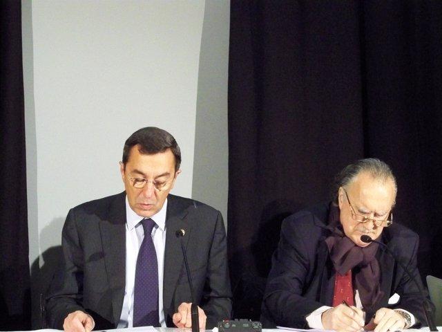 El diputado general de Bizkaia y el alcalde Bilbao
