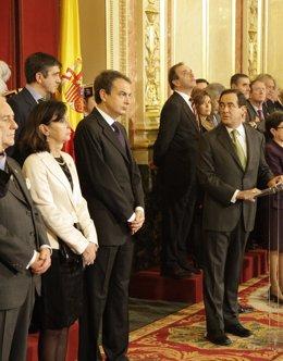 Bono y María Emilia Casas, Zapatero, Alonso y Sáenz de Santamaría