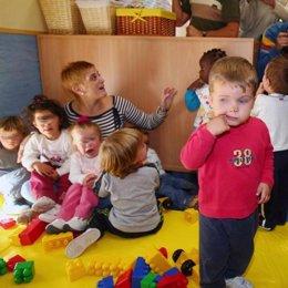 Niños en una guardería.