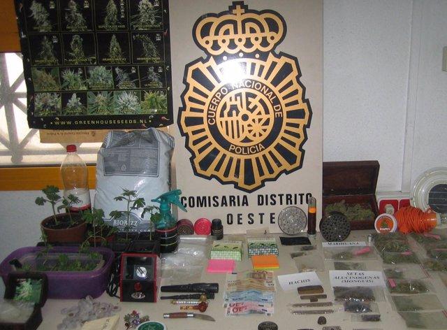 Droga incautada durante la operación 'Erita'