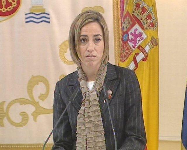 La ministra de Defensa, Carme Chacón