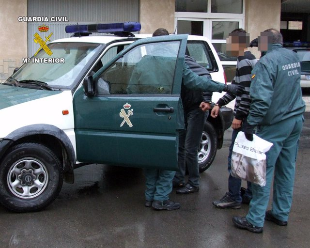 Guardia Civil frustra el secuestro de una persona, con la liberación de ésta y l