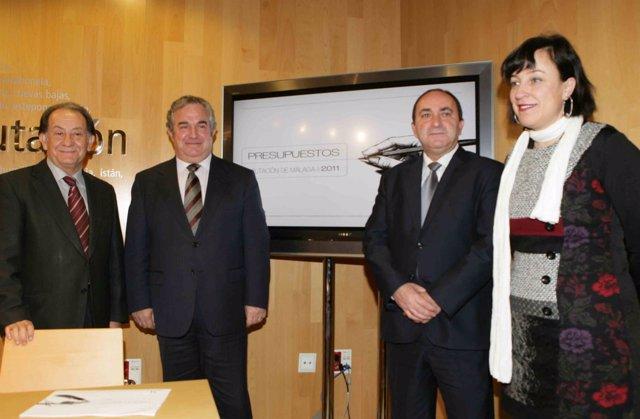 Presentación de los presupuestos de la Diputación para 2011