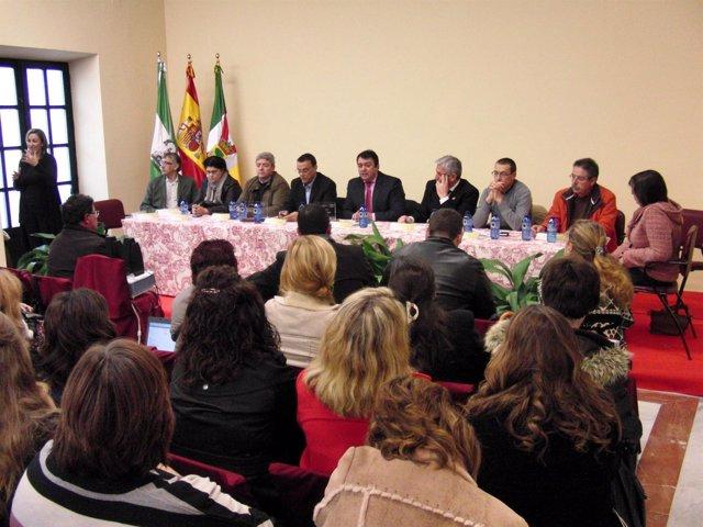 El delegado de Empleo en Huelva, Eduardo Muñoz, en la inauguración y  clausura d