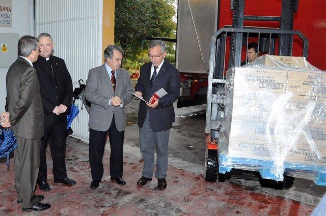 CAJA MEDITERRÁNEO DONA 15.000 KILOS DE ALIMENTOS A CÁRITAS DE LA REGIÓN DE MURCI