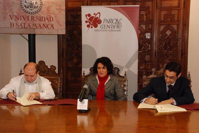 El gerente de la Fundación Parque Científico de la USAL, José Miguel Sánchez Llo