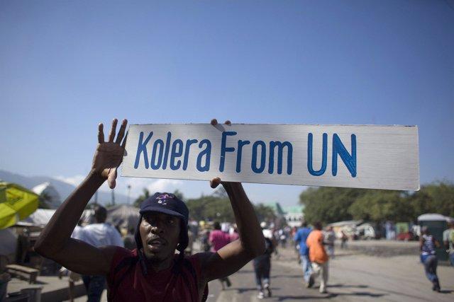 Protestas contra los cascos azules en Haití