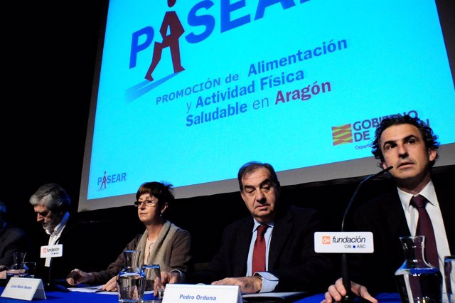 Luis María Noeno en la presentación de 'PASEAR'