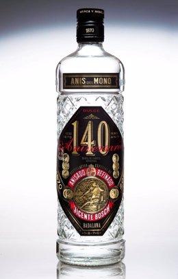 Botella del 140 aniversario de Anís del Mono