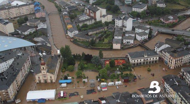 Inundación en Vegadeo