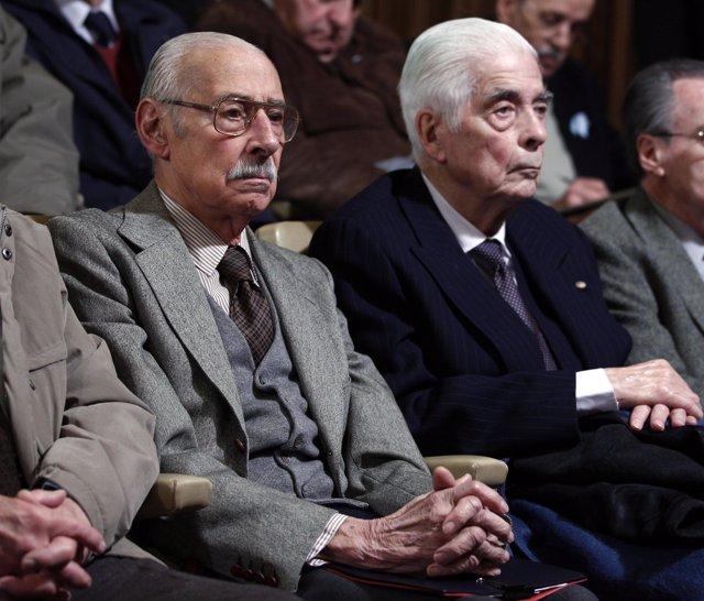 Los ex represores argentinos Jorge Videla y Luciano Menéndez