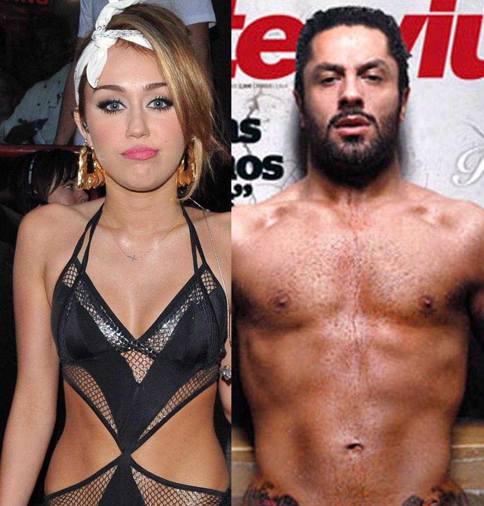 Montaje de Miley Cyrus y Rafael Amargo