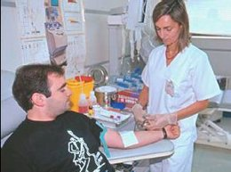 Una donación de sangre