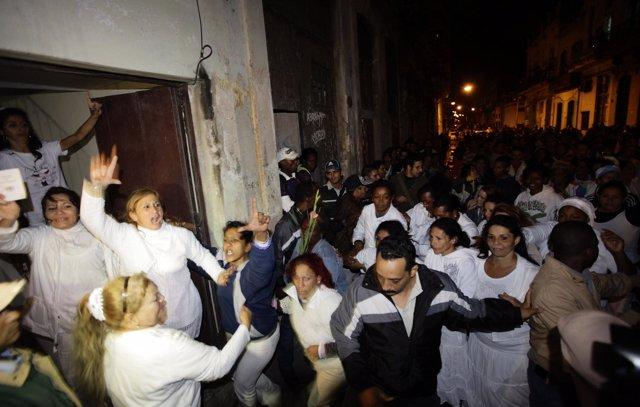 Marcha de las Damas de Blanco el día de los derechos humanos (DDHH)