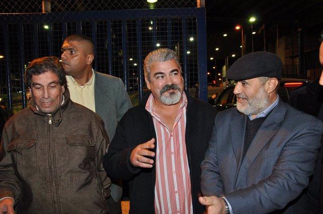 Yahya (en el centro) con los otros dirigentes del Comité de Liberación de Melill