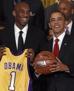Obama con los Lakers