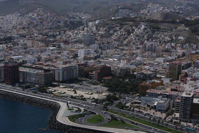 Vista aérea de Las Palmas de Gran Canaria.