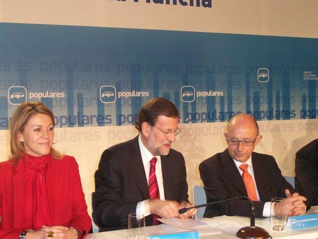 Maria Dolores de Cospedal y Mariano Rajoy