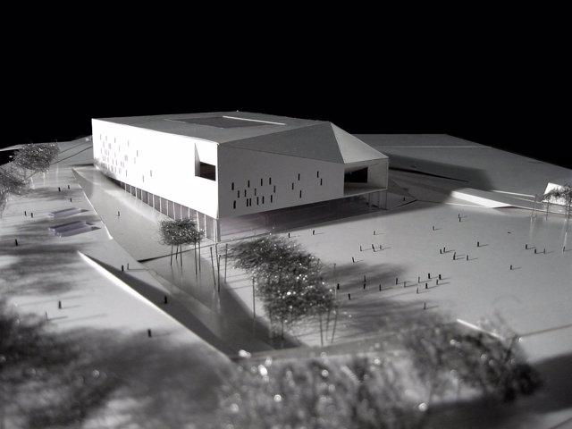 Maqueta del futuro Palacio de Deportes de Gran Canaria
