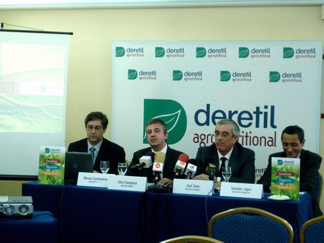 El director general de Deretil, Lluís Franquesa, en rueda de prensa
