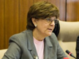 La consejera de Obras Públicas de la Junta, Josefina Cruz