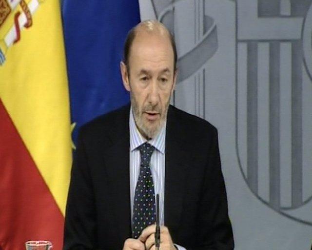 Vicepresidente primero y ministro del Interior, Alfredo Pérez Rubalcaba