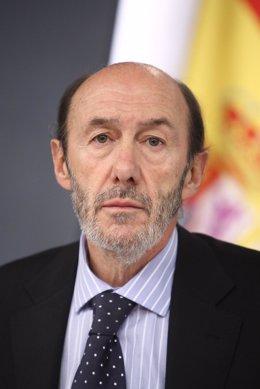 Plano serio de Alfredo Pérez Rubalcaba