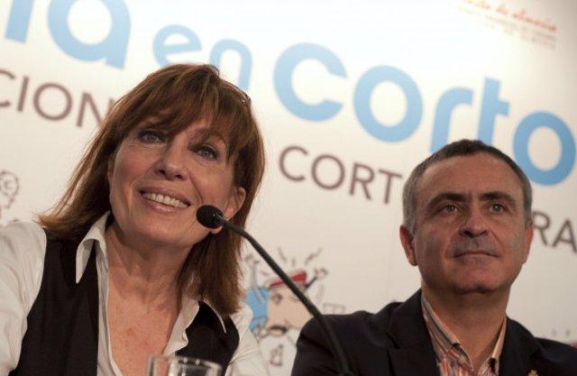 Mercedes Sampietro y el presidente de la Diputación de Almería, Juan Carlos User