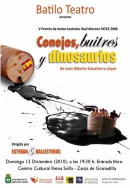 """TEATRO: """"Conejos, Buitres Y Dinosaurios"""" Domingo 12 Diciembre 2010."""
