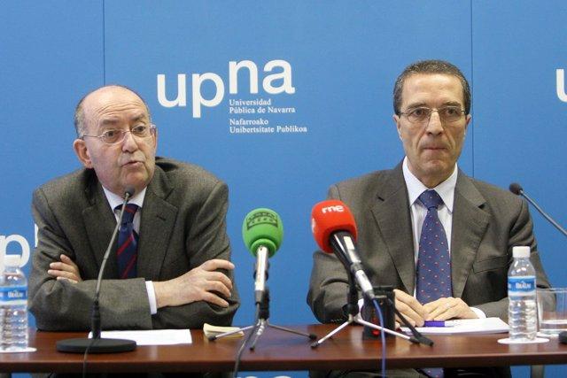 Alberto Pérez Calvo, a la izquierda, y Patricio Hernández, en la presentación de