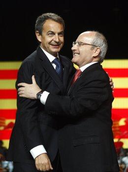 Zapatero y Montilla en el cierre de campaña