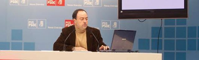 El secretario de Sanidad del PSdeG, Miguel Ángel Fernández