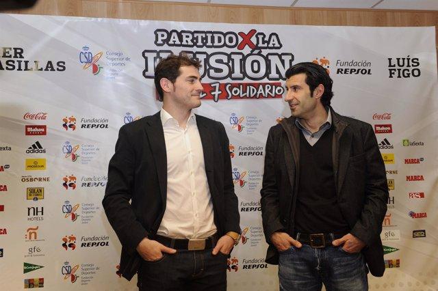 Casillas y Figo apadrinan el partido benéfico