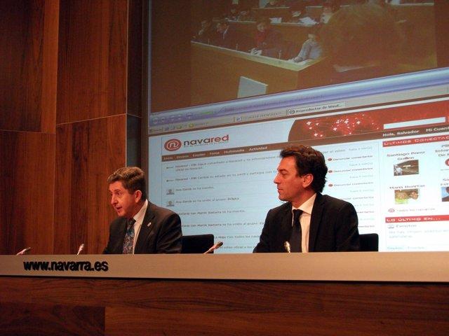El consejero Álvaro Miranda y el director general de Desarrollo Internacional, J