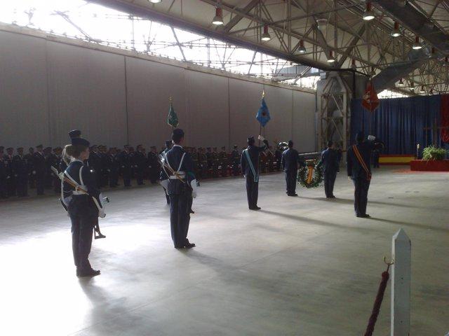 Acto militar en honor a la Virgen de Loreto en la base de Villanubla (Valladolid