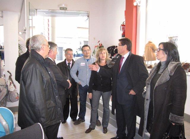 Arturo ALiaga visita Binéfar