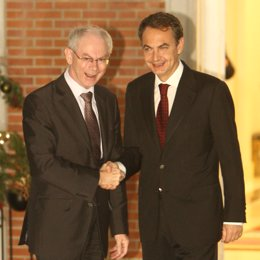 Van Rompuy y Zapatero en Moncloa