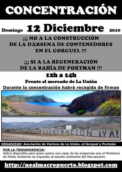 Asociaciones de vecinos convocan para este domingo una concentración para pedir la regeneración de Portmán