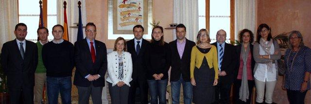 Miembros de la comisión sectoral de Relaciones Internacionales.