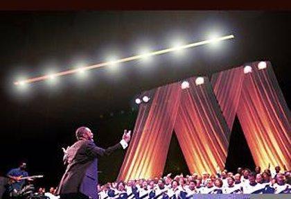 El coro de gospel 'Mississippi Mass Choir' actúa en el Baluarte este sábado
