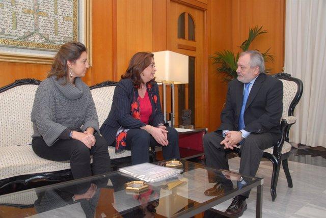 Moreno y Ocaña durante la reunión