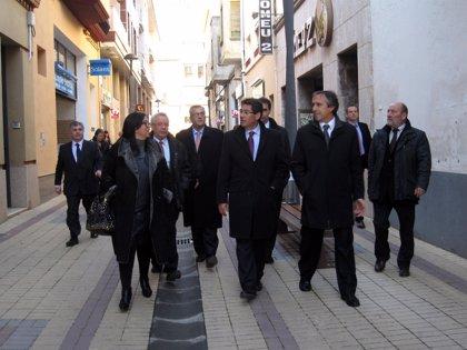 """Binéfar (Huesca) es """"un ejemplo a seguir"""" en empuje comercial y asociacionismo empresarial"""