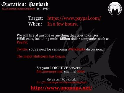 Anonymous abandona su ofensiva informática contra las empresas hostiles a Wikileaks