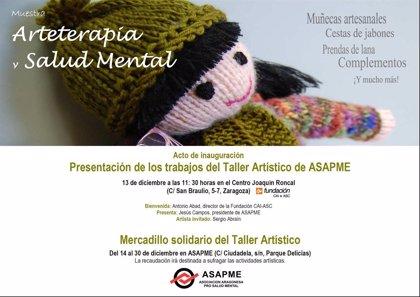 ASAPME organiza la muestra 'Arterapia y Salud Mental' con trabajos del taller artístico de la asociación