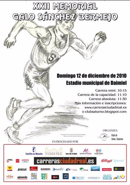 Barreda asiste este domingo a la salida de la Carrera XXII Memorial Galo Sánchez-Bermejo en Daimiel (Ciudad Real)
